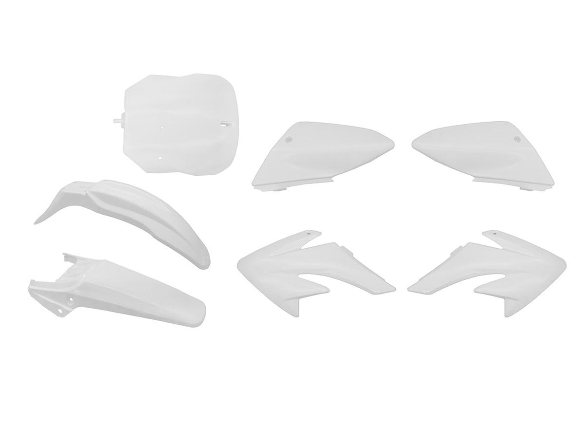 Комплект пластика Питбайк 125 (7эл.) Белый