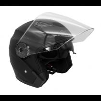 Шлем KIOSHI 526 Solid Открытый со стеклом и очками (черный матовый S)