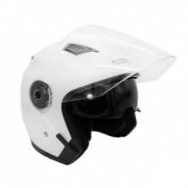 Шлем KIOSHI 516 Solid Открытый со стеклом и очками (белый S)