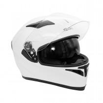 Шлем KIOSHI AVATAR интеграл с очками (Белый р-р М)
