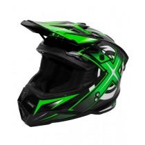 Шлем KIOSHI Heleshot 801 кроссовый, Зеленый (м)