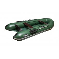 """Лодка ПВХ """"Бирюса-325"""" надувное дно (зеленая)"""